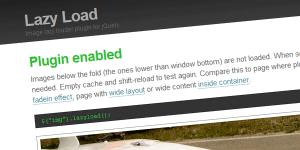 jQuery Lazy Load 图片延迟加载插件